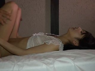 Skinny Asian milf Ami Manaka gets pussy stimulated and then fucked
