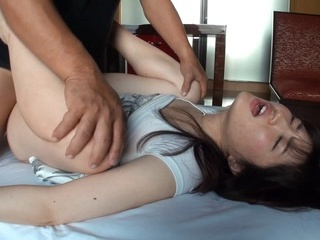 Juicy babe with hairy pussy Chiharu Ishimi enjoys toying and hardcore fuck