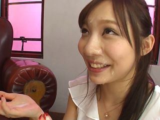 Kichikawa Ren enjoys the taste of a big stiff dick