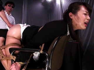 Horny Japanese mature chick Ouka Fujimura enjoys enema