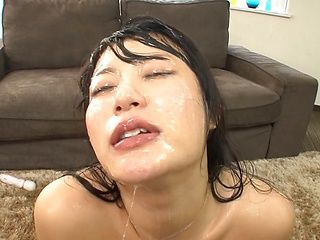 Superb hottie Hara Chigusa has appetite for cum
