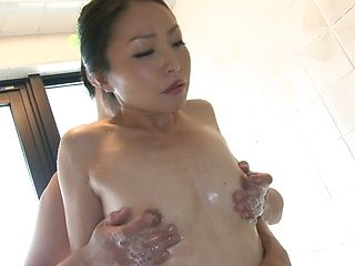Gorgeous mature Asian Miki Sasai gets banged in the shower