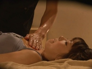 Sexy Japanese milf gets full body massage with oil enjoys banging