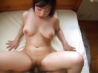 Arousing Asian babe enjoys giving amateur pov blowjob