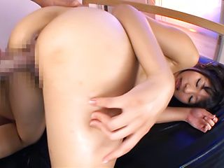 Cute Japanese hottie with stunning body and big ass Rio Ogawa impaled on cock