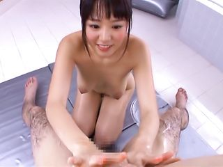 Mao Hamasaki enjoys giving a sensual soap massage