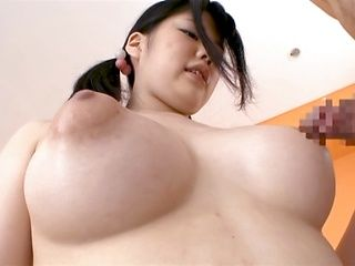 Aoi Nagase uses her big boobs to play with cock