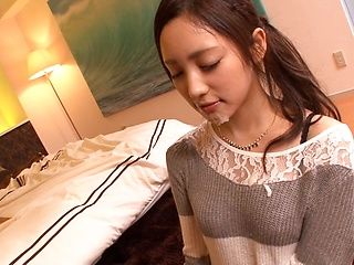 Gorgeous Asian housewife, Erika Momotani gives a steaming blowjob