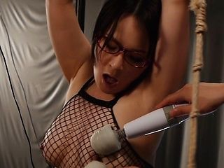 Kinky bondage addicted chick in a fishnet costume Narumi Takasaki
