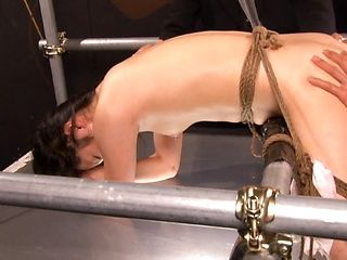 Bubble assed Japanese milf Chika Hirako exposes her anal and pussy holes