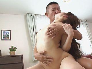 Elegant Japanese milf Rina Uchimura likes oral games and hardcore banging