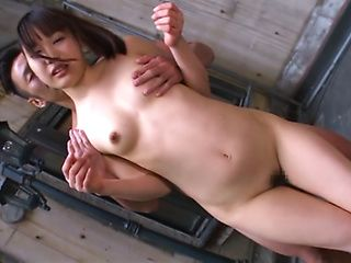 Glorious Japanese sex doll with perky tits Mayu Morida rides on cock