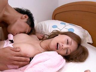 Beautiful amateur girl Akiho Yoshizawa gets impaled on cock and rides it
