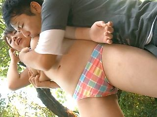 AV model with big tits Chika Kitano gets fucked outdoors