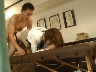 Massage gets steamy for lustful Japanese milf