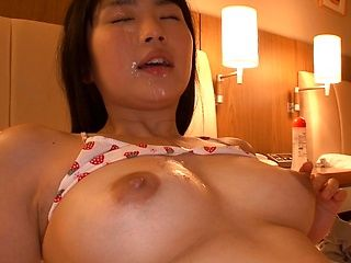 Hot Asian, Satomi Nomiya gets her tits fucked and face sprayed