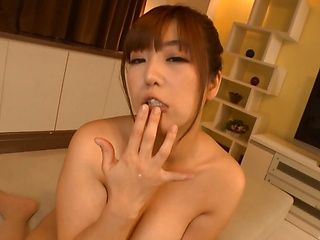 Chubby hottie Naho Hazuki masturbates and enjoys titfuck on camera