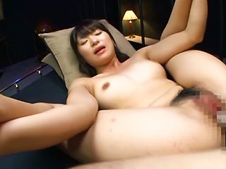 Lusty Japanese hottie Rio Ogawa gets banged by two horny guys