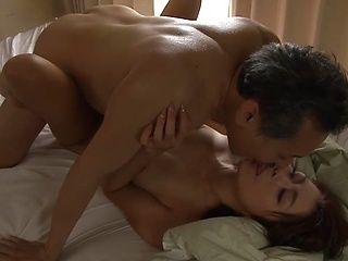 Maki Houjou, mature Asian babe deals senior cock in superb manners