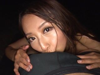 Aoki Rei naughty Asian milf gives amazing blowjob