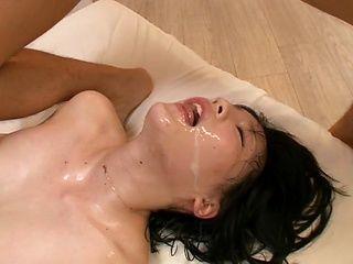 Shameless chick Airi Suzumura enjoys foursome sex gets a massive facial