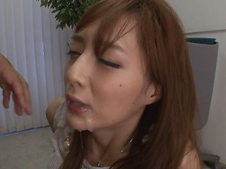 Sensational honey Fuyutsuki Kaede sucks a pervert stud