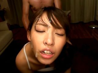 Petite Japanese milf Sana Mizuhara enjoys sex with two young dudes