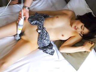 Cock sucking Asian chick loves to play with her pussy