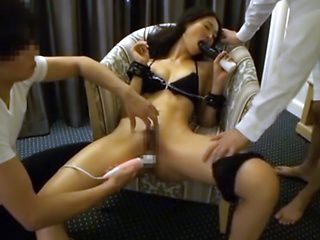 Hot milf Iroha Natsume gets tied up and enjoys pussy teasing