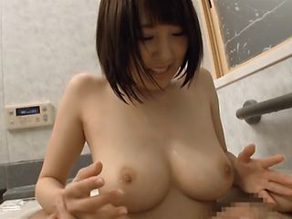 Harura Mori gives a long sensual tit fuck