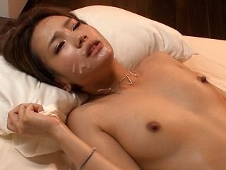 Spicy Asian broad Aoki Karen enjoying steamy fuck