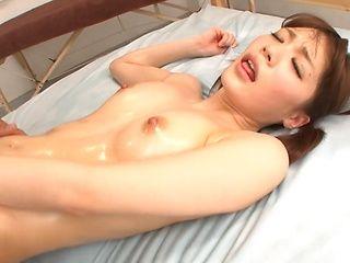 Sweet Suzumura Airi oiled and gets plowed deep