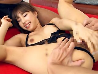 Alluring Shunka Ayami banged by two horny studs