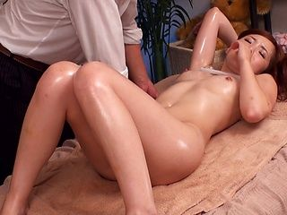 Massage turns Asian cutie into a hardcore fucking bimbo