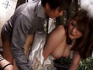 Asian milf Momoka Nishina, with big tits screams during harsh sex moments
