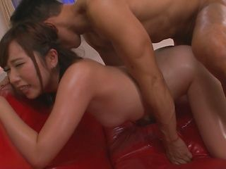 Misaki Tsubasa fucked by two guys and made to swallow