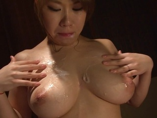 Asian chick with big tits Iroha Suzumura enjoys cosplay ad cum on boobs