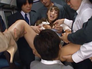 Delicious diva Shunka Ayami gang banged hard