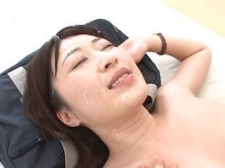 Naughty milf Tsukasa Aoi sucks many cocks gets massive bukkake