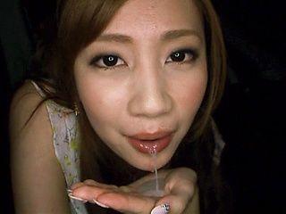 Barely legal Kaori Maeda satisfies a stiff pole