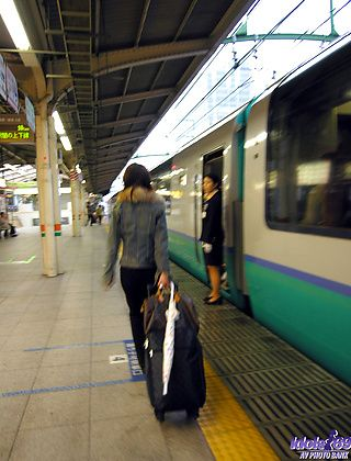 Akane Sakura Lovely Japanese Babe Has A Thing For Trains