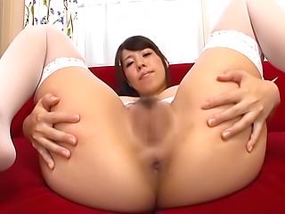 Kasai Ami strips to showcase her tasty poke holes