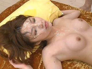 Narumi Ayase naughty Asian babe in lingerie gets into a group fucking