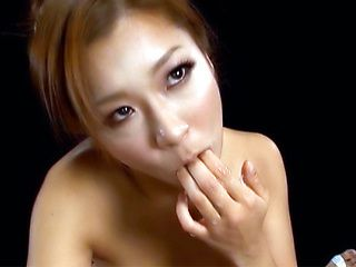Horny Japanese AV Model sucks cock for a load in her mouth