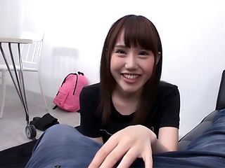 Ebina Rina showing her amazing blowjob skills