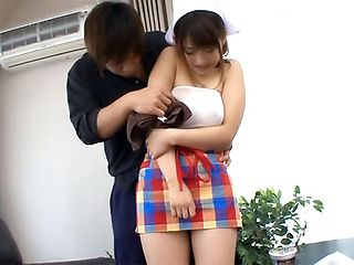 Cute Ami Tokunaga gets nailed hard and deep