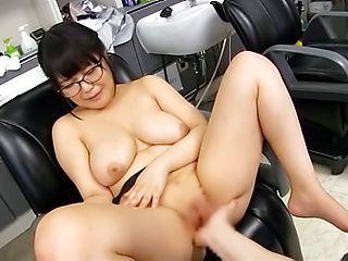Touching Kawai Mayu shaved beaver makes MILF so horny