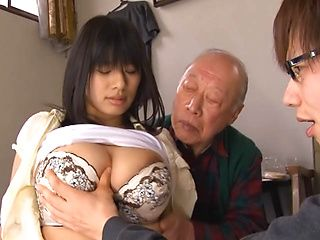 Hana Haruna, arousing Asian milf shows off her big tits for a fucking