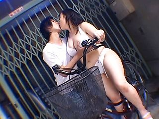 Japanese AV Model is a sweet teen getting her hairy pussy banged outdoors