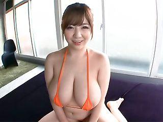 Huge melons beauty Niiyama takes a kinky caressing